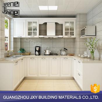 Kitchen Accessories White Color U Shape MDF Modern Design Kitchen Modular  Kitchen Cabinets