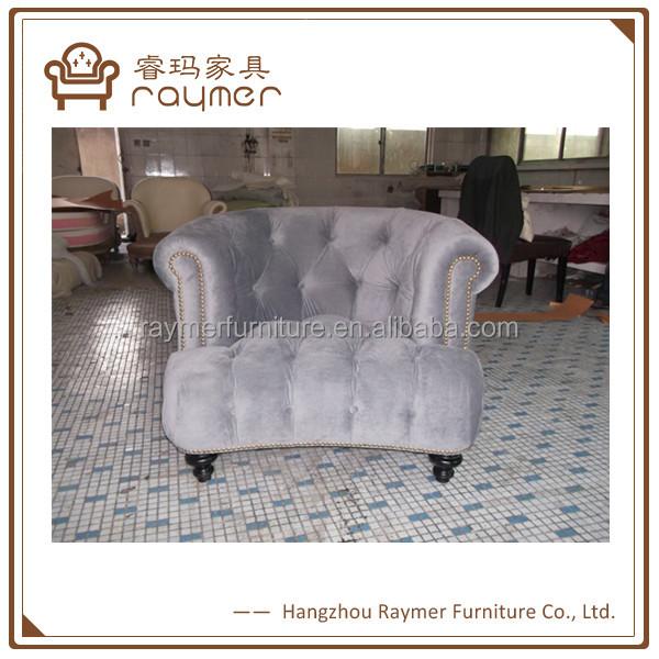 Classic Sofa Design Half Round Velvet Fabric Single Sofa Chair   Buy Velvet  Sofa Chair,Half Round Sofas,Wooden Sofa Chair Product On Alibaba.com