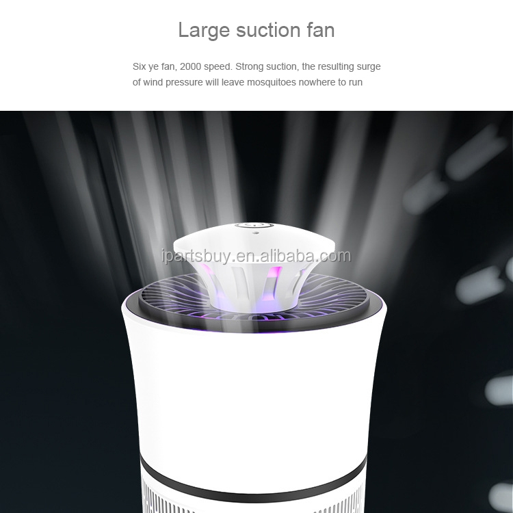2017 Best Selling UV Light Photocatalyst 6-blade Fan Mosquito Killer Lamp