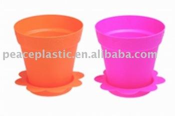 9 Inch Plastic Round Flower Pot Plastic Vase Buy Plastic Vase Plastic Cemetery Vase Plastic