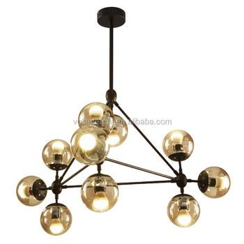Hot sell decorative antique modo chandelier amber glass with black hot sell decorative antique modo chandelier amber glass with black metal pendant light aloadofball Images
