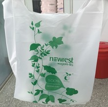 Custom printing (halal) 인증 <span class=keywords><strong>옥수수</strong></span> <span class=keywords><strong>전분</strong></span>과 100% Biodegradable shopping bag