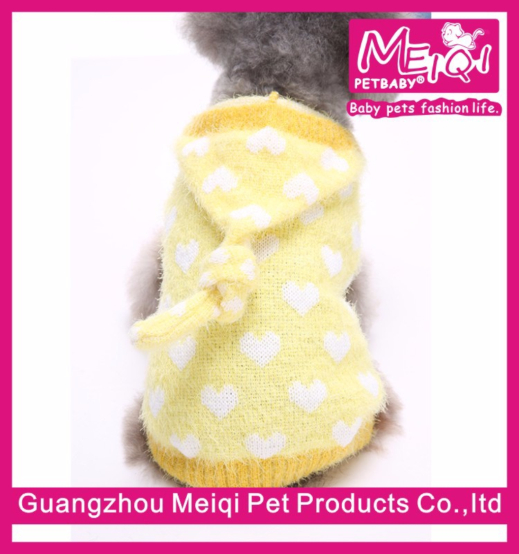 Adorable Pet Clothing Heart Pattern Factory Dog Sweater China