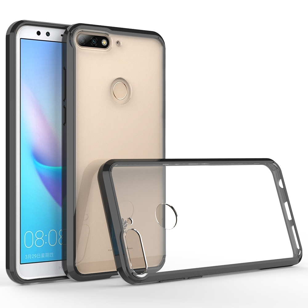 timeless design b0728 8c3ca Pc And Tpu Bumper Clear Mobile Phone Case Cover For Huawei Y7 2018 / Y7 Pro  /y7 Prime / Enjoy 8 Plus - Buy Pc And Tpu Bumper Mobile Phone Case,Case ...