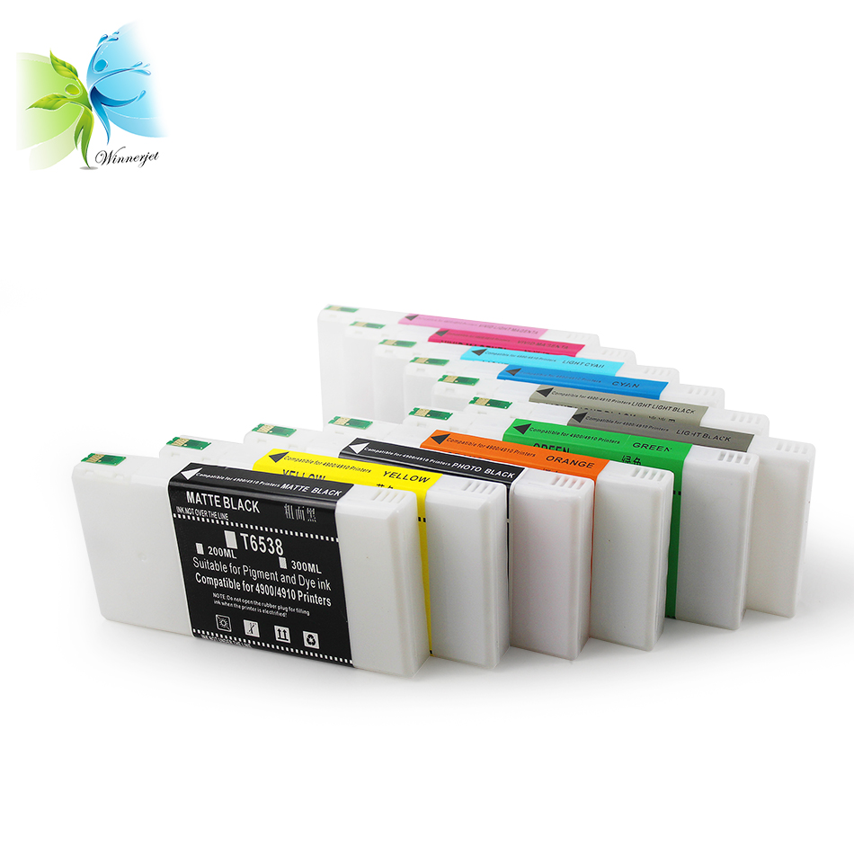 200ml T913 full compatible ink cartridge with chip for Epson SureColor P5000 SC-P5000 pigment ink cartridge for Epson P5000