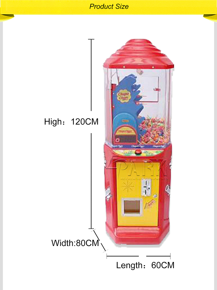 Kids Lollipop Machine vending machine arcade games machines Candy Claw coin operated for sale