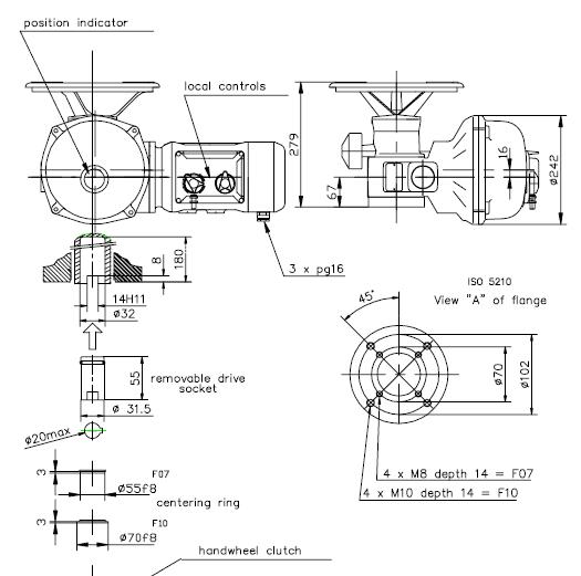 bernard linear turn electric actuators sra6  10 ve50s  2