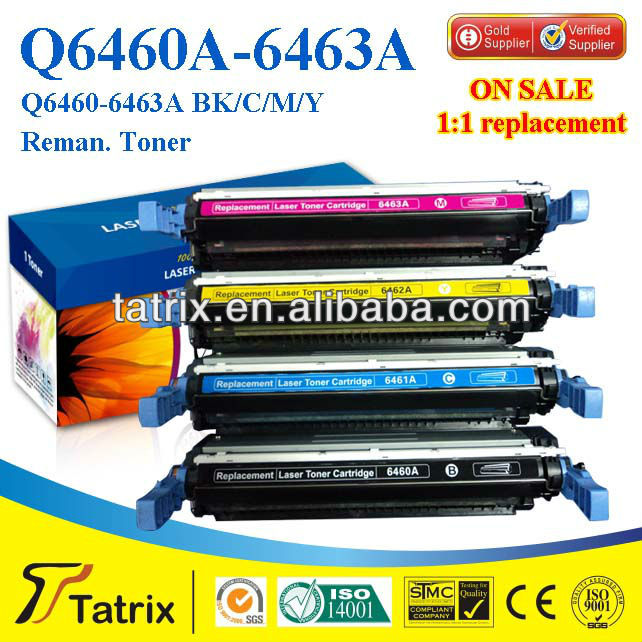 Reman Toner Cartridge Q6460A for HP , Top-Rate Reman Toner Cartridge for HP Q6460A , Save UP About 70% Toner Cost.