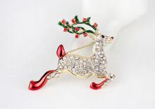 Cute christmas gift enamel deer brooch animal pin brooch