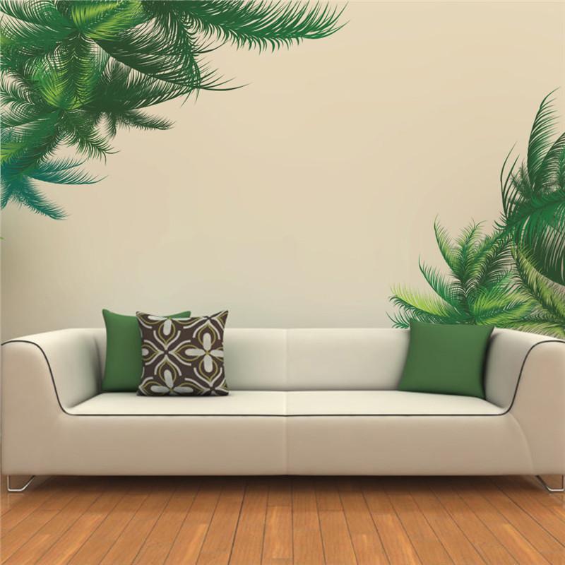 ZOOYOO grote groene blad eenvoudige home decor sticker voor ...