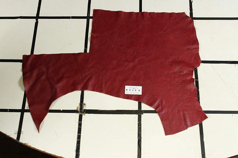 "WOW!""Summer Mystery"" Red Scrap Leather Hide Approx. 4.75 sqft. K4J4-8"