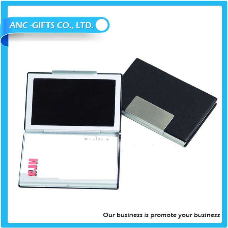 New design hot sale printing leather made insurance card holder in china