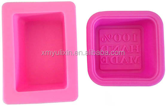 4cavity square designed silicone molds for soap making