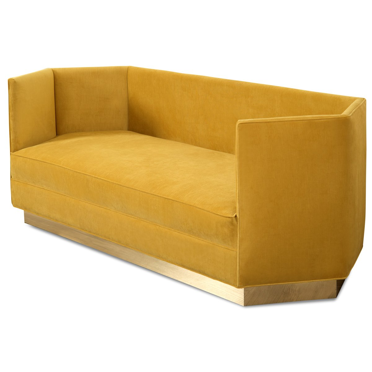 French Modern Yellow Velvet Fabric Couch,Gold Stainless Steel Base Sofa For  Event Wedding Furniture - Buy French Yellow Linen Couch,Gold Stainless ...