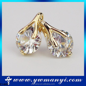 High Quality New Design Yiwu Futian Market Dragon Mart Dubai Cubic Zirconia Earring