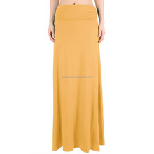 Women Maxi Skirt Long Skirt High Waist Rayon skirt