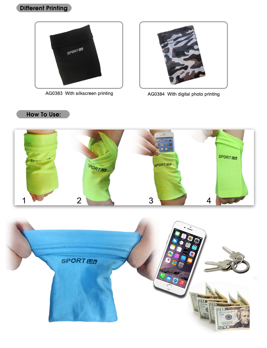 High quality sport arm band case / armband/ wrist call pouch exporter