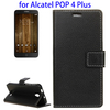 Flip Leather Case Cover for Alcatel One Touch Pop 4 Plus, Wholesale for Alcatel One Touch Pop 4 Cover