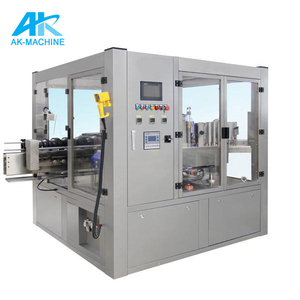 automatic hot melt glue wrap around rolling labeling / packing / packaging machine/ blitz labeller machine for opp bopp label