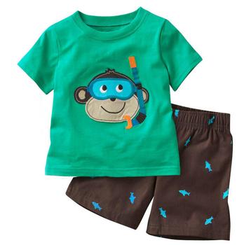 db7e89f199d87b Cartoon affe babykleidung sets für baby kinder kleidung sets gedruckt baby  kleidung sets kinder kleidung