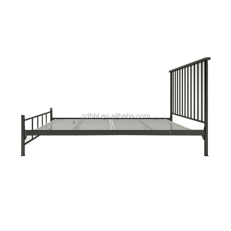 Customized size home bedroom furniture platform twin/full size metal bed frames