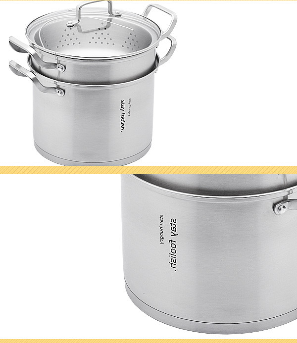 Fda stainless steel pasta pot cooker with
