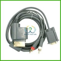 FXB-27 Gold Plated 6ft Premium VGA Cable w/ Digital Optical Audio Port for Microsoft Xbox 360 to TV equipment For PC HDTV