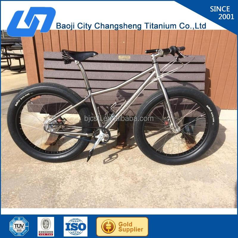 professionally manufacturing gr9/Ti3a2.5v titanium fat bike frame with SGS TUV certificates assurance