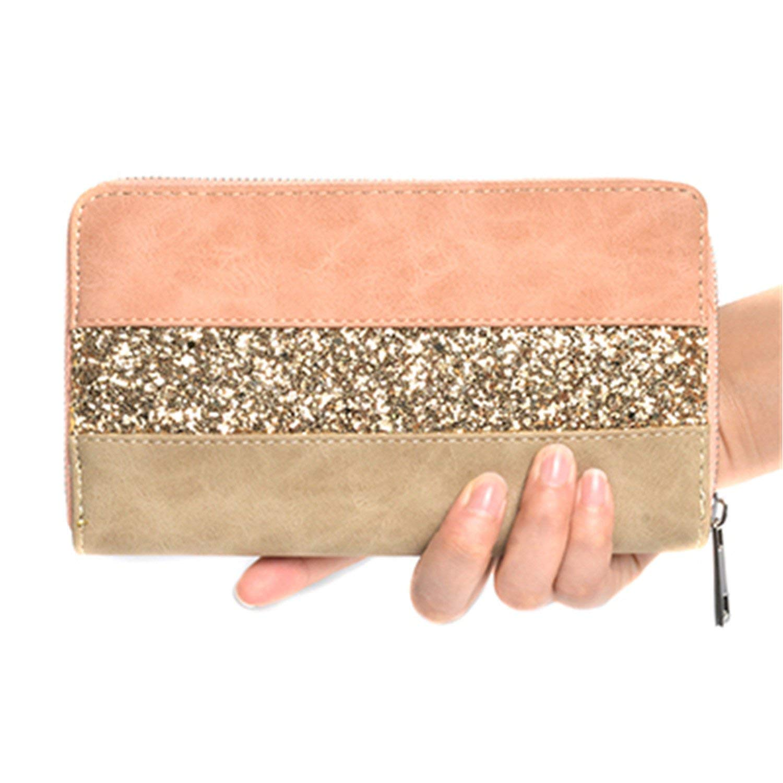 Llcamc Fashion Women Wallet Pu Leather Casual Lady Purse Luxury Brand Long Zipper Vintage Clutch Wallet Card Holder
