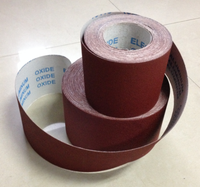 Red Aluminum Oxide grain Hand tear abrasive cloth roll JB-5 for polishing wood, steel