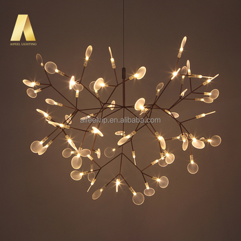 Fireworm Contemporary Simple Big Rose Gold Hanging Led Lighting
