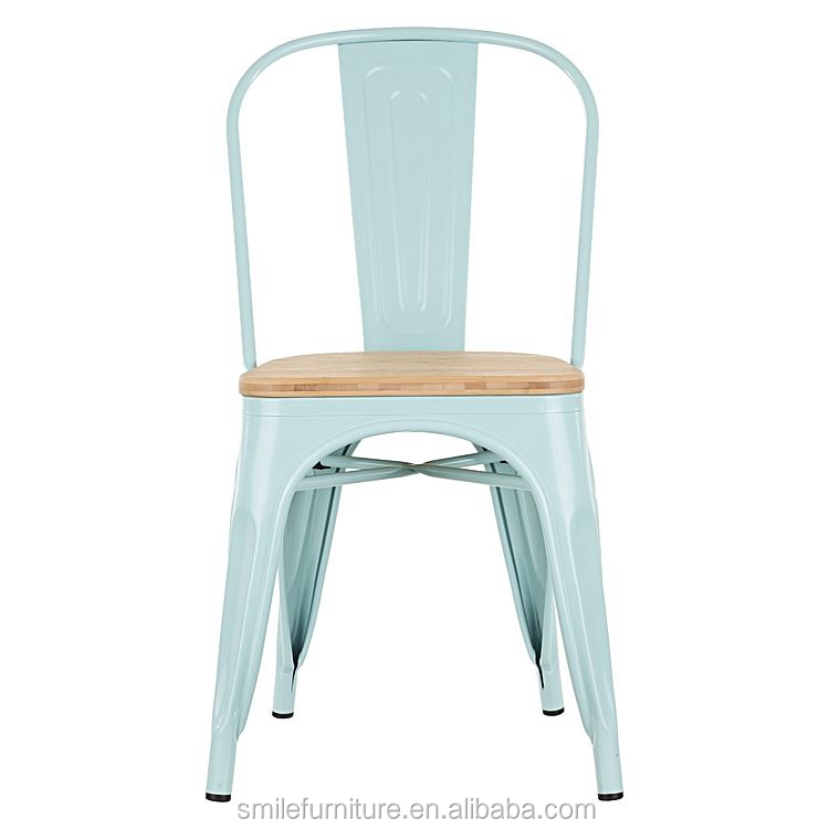 Wholesale Metal Chair Modern Industrial Style Stackable Vintage Cafe Bistro Iron Metal Dining Chair Buy Black Metal Dining Chair Metal Chair Wooden Seat Metal Chair Product On Alibaba Com