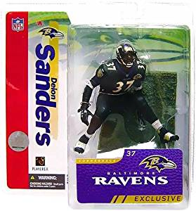 McFarlane Toys NFL Sports Picks Collectors Club Exclusive Action Figure Deion Sanders 2006 (Baltimore Ravens) Black Jersey