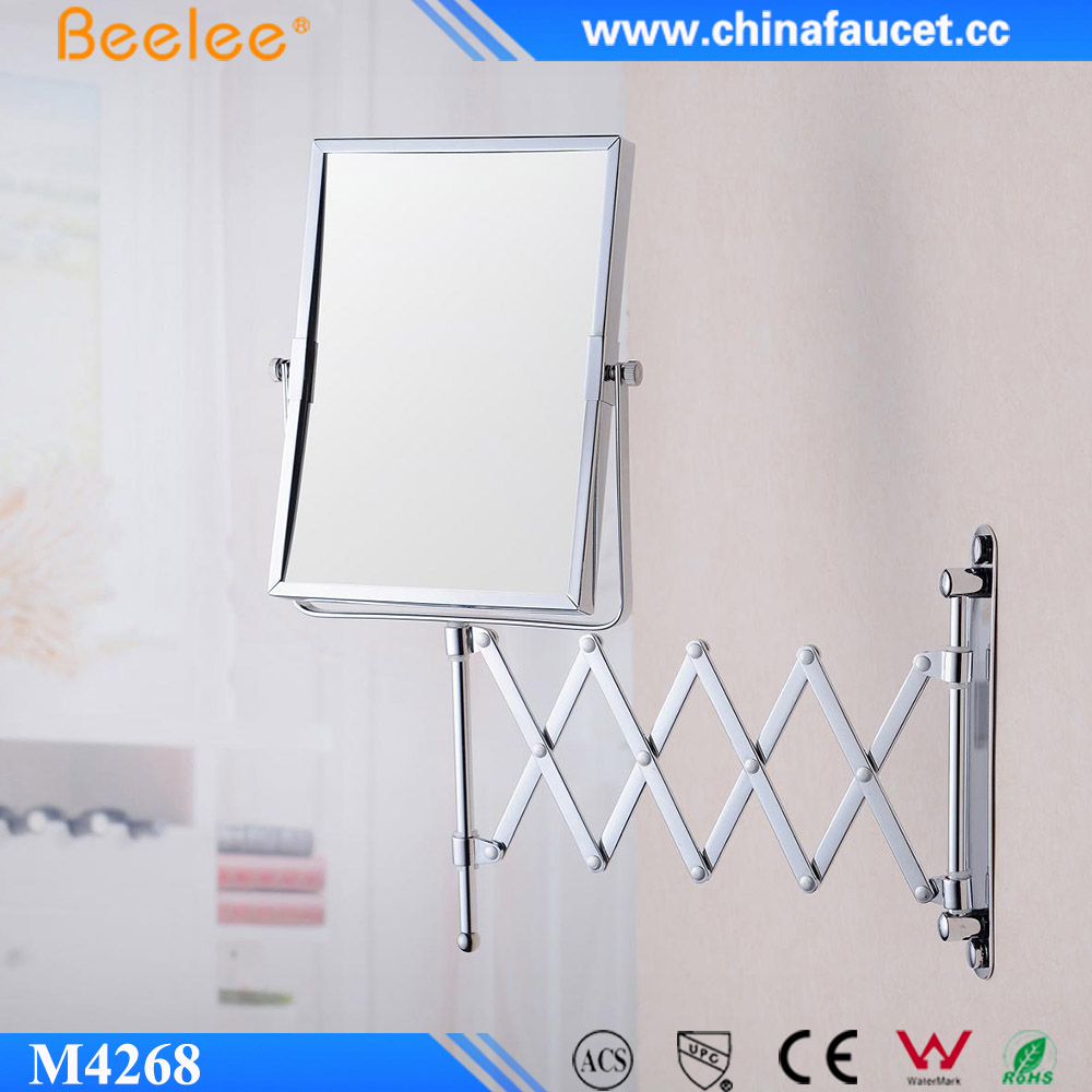Beelee 8 Inch Rectangular Compact Smart Decorative Wall Mirror With Magnifying