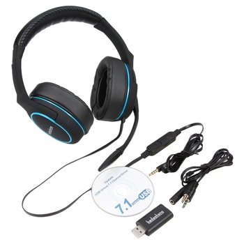Virtual 7 1 Surround Sound Gaming Microphone Headset Over-ear Headphone For  Xbox One Ps4 Mobile Phone Ipad Tablet Pc Mac - Buy Virtual 7 1 Surround