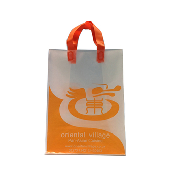 Environmental hot sale flexiloop handle plastic bag