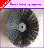 black nylon road sweeper brush, road cleaning brush,steel wire snow sweeper brush