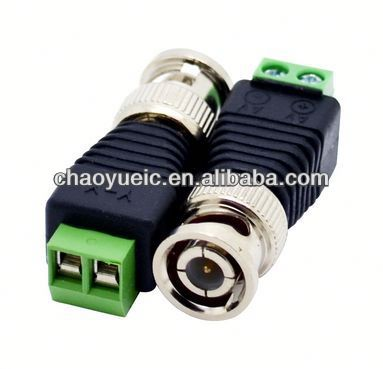 balun box connector BNC Male Cat5 CCTV Video Adapter Coaxial Coax Balun Camera TV Connector