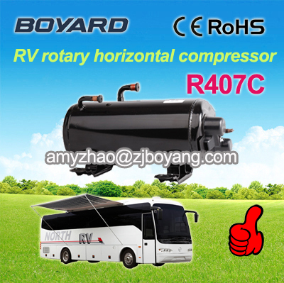 Dometic supplier! Boyard rotary r407c horizontal compressor for camping rooftop air conditioner