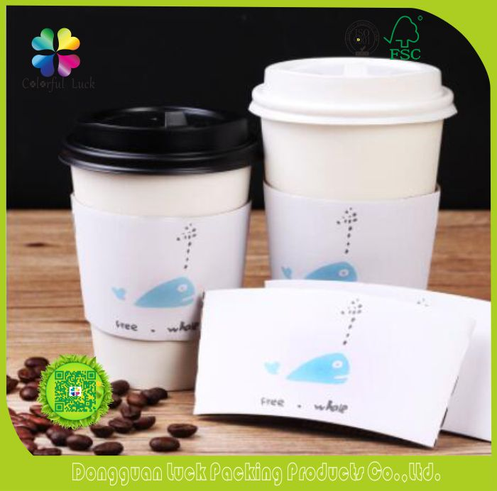 Disposable Custom Print Logo 12OZ 16OZ Insulated Paper Coffee Cups with Plastic Lids