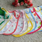 waterproof printed soft cotton jersey applique baby bib made in china safe print bib