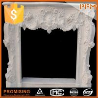 wholesale well polished beautiful outdoor gas firepit marble decorative fireplace