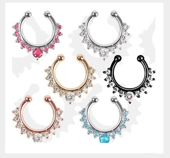Stainless Steel Casting Septum Fake Piercing Nose Rings Buy