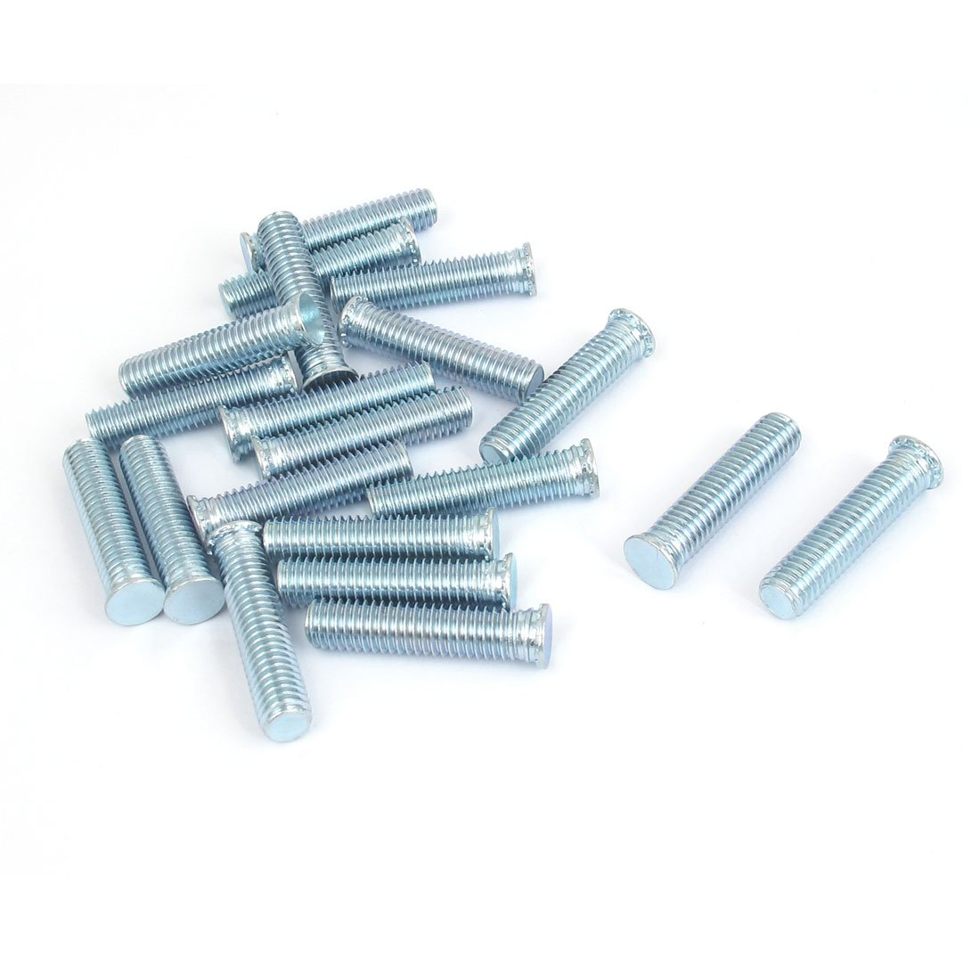 uxcell M8x35mm Zinc Plated Flush Head Self Clinching Threaded Studs 20pcs