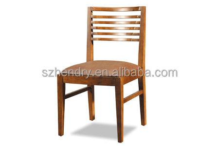 Slat back Solid wood Restaurant chair for sale