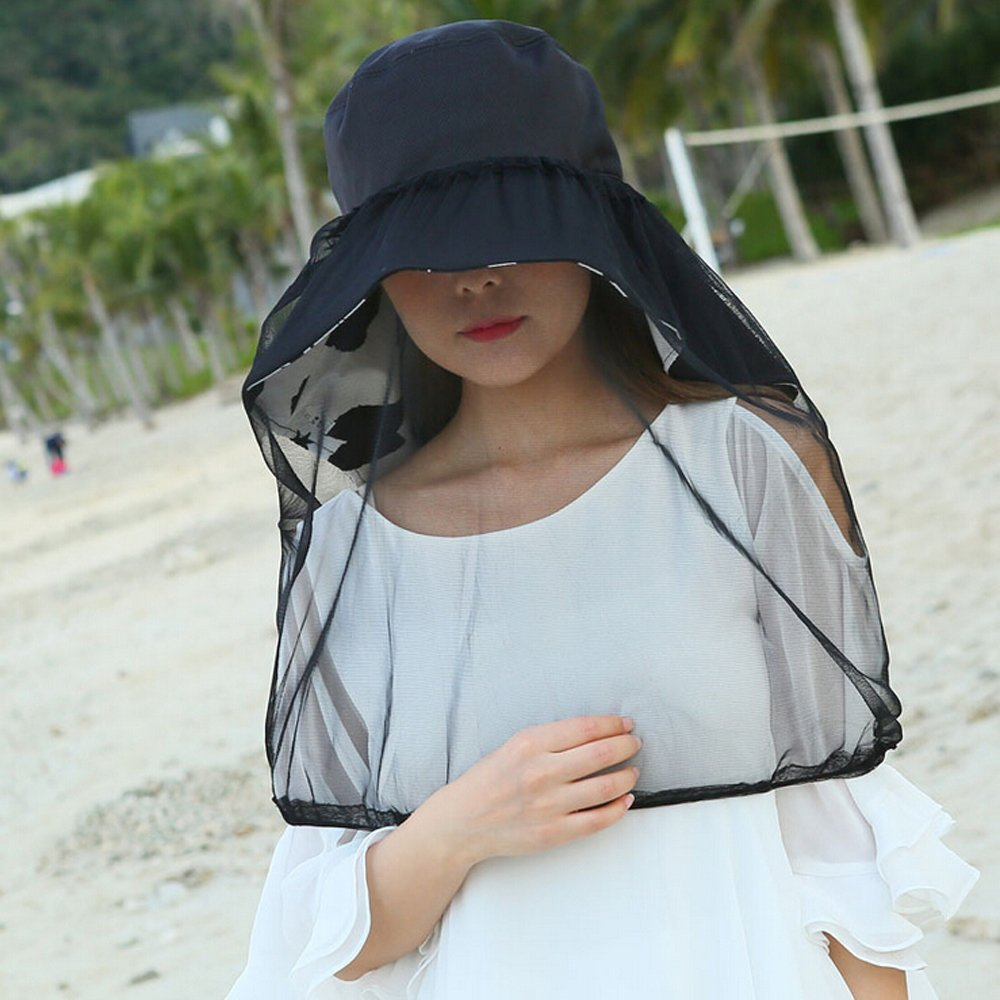 0b34b6e4f23 Ezyoutdoor Women Outdoor Double-use UPF 50+ Adult Sun Hat Outdoor  Anti-mosquito