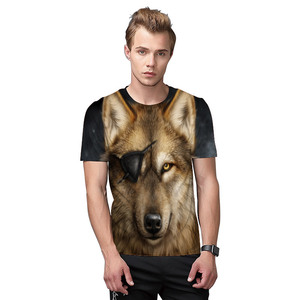 P58 wholesale 2018 150gram light fabric 3D animal sublimation printing men t shirt