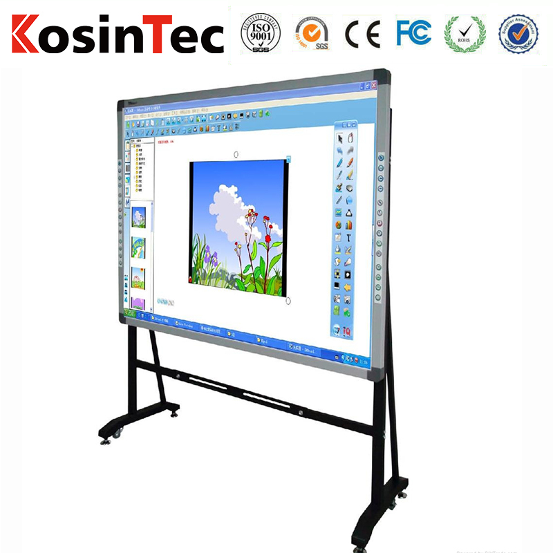 Metal plate material touch interactive whiteboard optical smart board with Smart pen finger touch IWB whiteboards