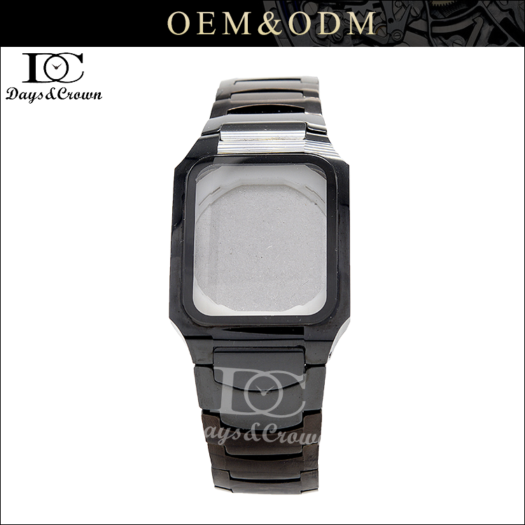 New design model black ceramic watch band watch case for lady men