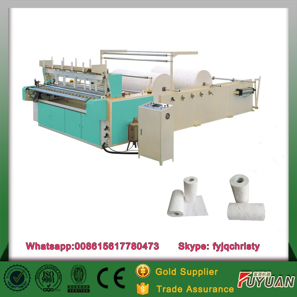 full automatic paper tube sets 3 Ply toilet paper converting machine
